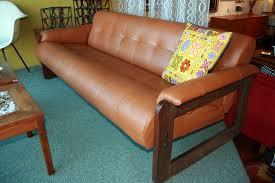 gallery sale 1960 s vintage modern leather tufted sofa sergio