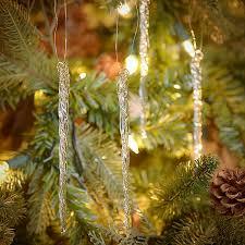 Where To Buy Christmas Tree Tinsel Icicles by Amazon Com Kurt Adler Glass Icicle Christmas Ornaments 12 Piece