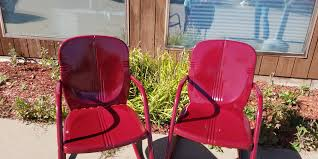 Custom Powder Coated King And Queen Outdoor Chairs | Iowa
