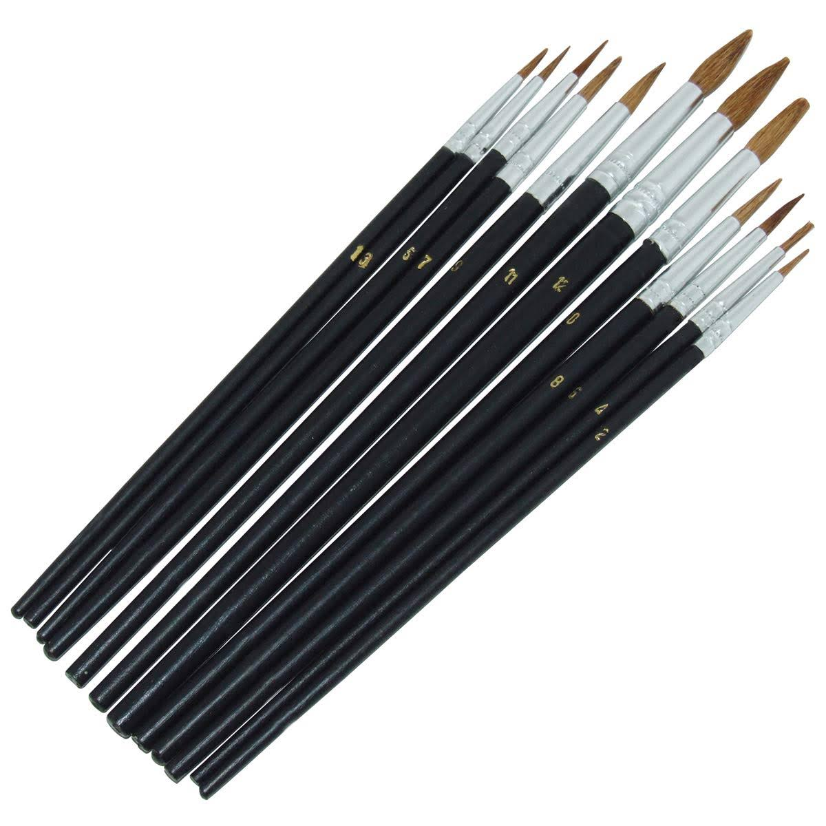 Amtech 12pc Pointed Tip Art Brush Set