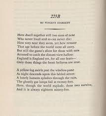 Famous Poems About Halloween by Vincent Starrett U0027s Classic Poem U0027221b U0027 I Hear Of Sherlock Everywhere