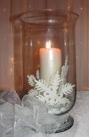 Winter Wedding Reception Centerpieces White Candle Centerpiece