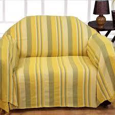 jet de canap jaune jeté de lit ou de canapé morocco rayures jaune 150 x 200 cm
