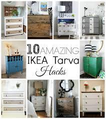 Ikea Tarva 6 Drawer Dresser Hack by 10 Amazing Ikea Tarva Hacks Little House Of Four Creating A
