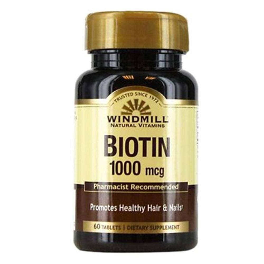 Windmill Biotin, 1000 mcg, Tablets, 60 EA