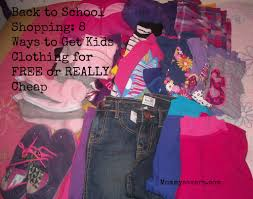 back to shopping 8 ways to get kids clothing for free or