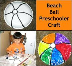 Easy Beach Crafts For Kids Ball Preschooler Craft What A Fun Summer Toddlers