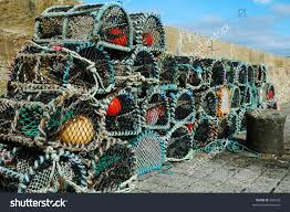 Decorative Lobster Traps Small by Lobster Pots Scottish Fishing Village Stock Photo 566038