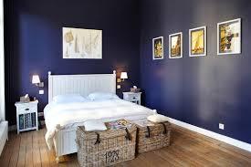 chambre bleu nuit peinture bleu nuit chambre