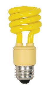 satco s7267 13 watt 60 watt mini spiral color cfl light bulb