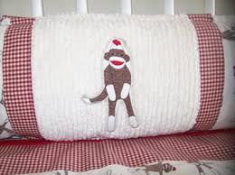 Sock Monkey Crib Bedding by Custom Baby Sock Monkey Nursery Decor And Bedding