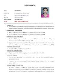 Job Resume Sample Malaysia Curriculum Vitae For Nurses Examples