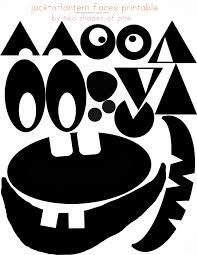 Scary Pumpkin Faces Printable by Jack O Lantern Pinata Eighteen25