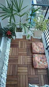 15 Perfect Ways To Decorate Outdoor Space With Wooden Tiles Balcony DecorationBalcony IdeasThe BalconySmall