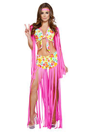 Foxy Flower Child 2pc Sexy Retro Costume