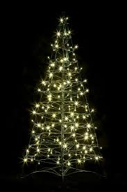 Get Quotations Pre Lit LED 4 Folds Flat Outdoor Christmas Tree W 160 Warm White Lights