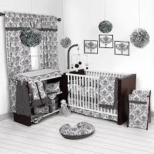 Bacati Crib Bedding by Amazon Com Bacati Classic Damask White Black 10 Pc Crib Set