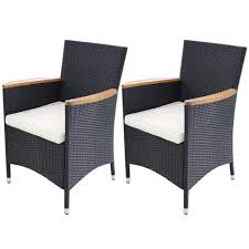 Amazon.com : Festnight Garden Wicker Patio Dining Chairs Black Poly ... Outdoor Wicker Ding Set Cape Cod Leste 5piece Tuck In Boulevard Ipirations Artiss 2x Rattan Chairs Fniture Garden Patio Louis French Antique White Back Chair Naturally Cane And Plantation Full Round Bay Gallery Store Shop Safavieh Woven Beacon Unfinished Natural Of 2 Pe Bah3927ntx2 Biscayne 7 Pc Alinum Resin Fortunoff Kubu Grey Dark Casa Bella Uk Target Australia Sebesi 2fox1600aset2