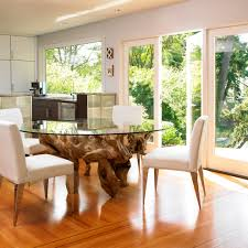 Driftwood Table Dining Room Contemporary With Centerpiece French Luxury Doors In