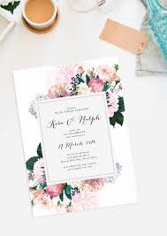Pretty Protea Wedding Invitations Vintage Botanical Invite Dahlia Berries Roses Sail And Swan Stationery