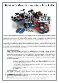 100 Parts Of A Truck Drive With Manufacturers Auto Parts India