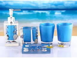 Beach Glass Bath Accessories by Capricious Sea Bathroom Accessories The Sea Blue Beach Glass Bath