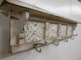 Stunning Coat Rack Farmhouse Rustic On Grey Wall Color Paint Using Pics Cool Shelf