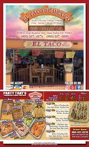 El Patio Simi Valley Los Angeles Ave by Menu U2013 El Taco De Mexico