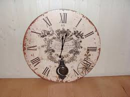 Large Cream Pendulum Wall ClockLarge Clock 3