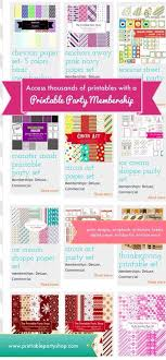 Printable Party Shop Tons Of Printables All In One Place Designs Scrapbooking
