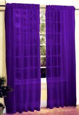 Dark Purple Ruffle Curtains by Purple Curtains Drapes And Valances Ebay
