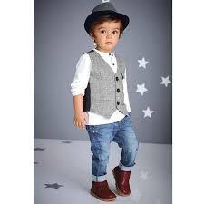 Fashion Kids Clothing Set Handsome Vetement Enfant Garcon Spring Vest T Shirt Jeans Children Cool Kid In Sets From