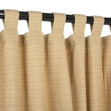 Bamboo Patio Curtains Outdoor by Dupione Bamboo Sunbrella Outdoor Curtains With Tabs