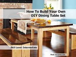 Diy Dining Table Set Lowes