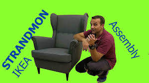 Strandmon Wing Chair Green by Ikea Strandmon Wing Chair Assembly Youtube