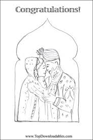 Download And Print Indian Wedding Coloring