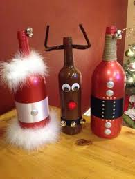 Decorative Wine Bottles Crafts by Gingerbread Man Wine Bottles Made By Me Pinterest