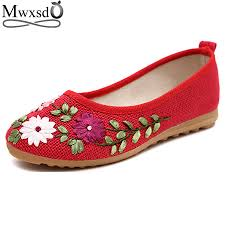 2017 casual women flats loafers shoes flower flats ladies slip