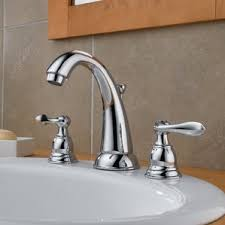Delta Trinsic Widespread Bath Faucet by Widespread Bathroom Faucet You U0027ll Love Wayfair
