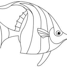 Beautiful Angel Fish Coloring Page