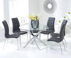Round Dining Room Tables For 6 Glass Table