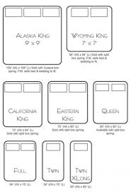 Furniture Flossy King Size Dimensions Vs Queen California Sizes