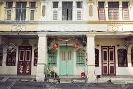 100 Houses In Malaysia Colonial Georgetown Penang Stock Photo Picture