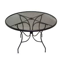 Meadowcraft Patio Furniture Dealers by Meadowcraft Glenbrook Round Mesh Patio Dining Table Outdoor