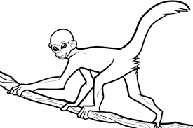 Easy Monkey Coloring Pages For Kids