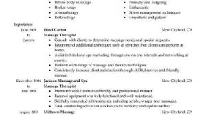 Massage Ther Resume Objective Examples Therapist Example