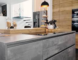 küche in betonoptik und wildeiche