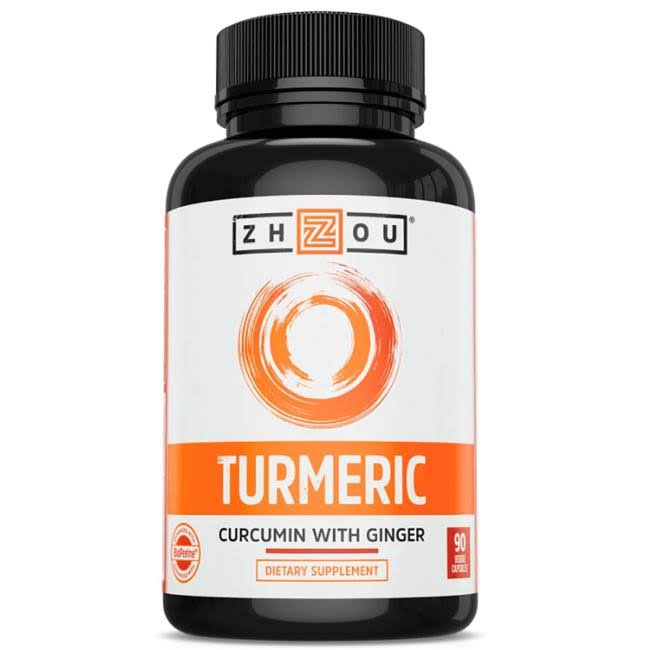 Zhou Turmeric Curcumin with Ginger Supplement - 90ct