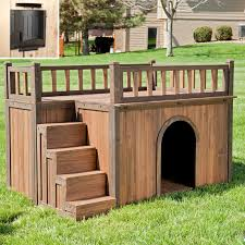 Shed Free Dogs Small by Boomer U0026 George Stair Case Dog House Hayneedle
