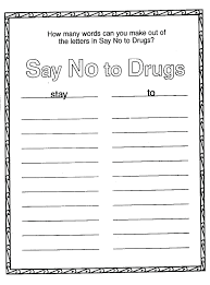 Drug Awareness Coloring Pages Respect Yourself Be Free Pictures Red Ribbon Week Download Full Size